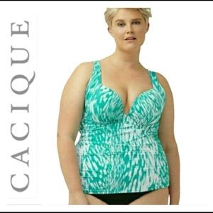 🌷CACIQUE BALCONETTE AQUA SWIM TOP 🌷